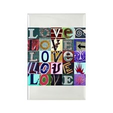 Signs of my Love Rectangle Magnet