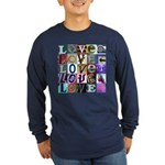 Signs of my Love Long Sleeve Dark T-Shirt