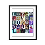 Signs of my Love Framed Panel Print