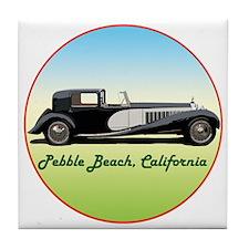 Funny Pebble beach california Tile Coaster
