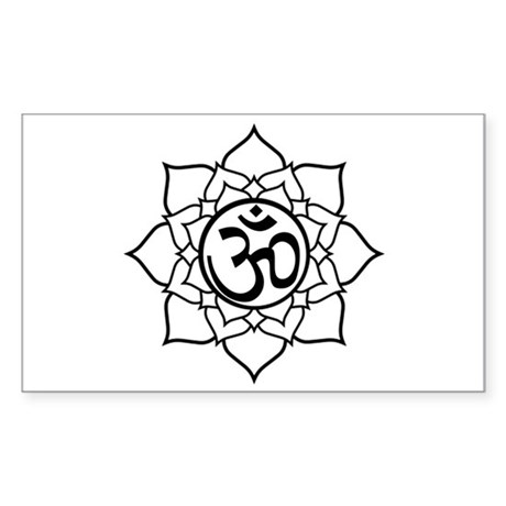 Om Lotus Blossom Rectangle Sticker