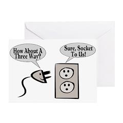 Three Way Plugged Greeting Card