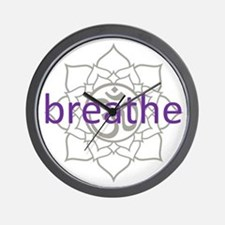 breathe Om Lotus Blossom Wall Clock