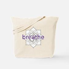 breathe Om Lotus Blossom Tote Bag