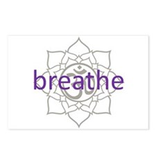 breathe Om Lotus Blossom Postcards (Package of 8)