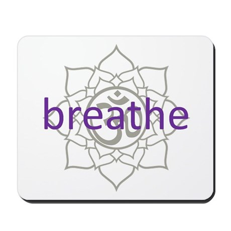 breathe om lotus blossom mousepad by tooleys
