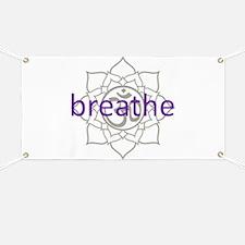 breathe Om Lotus Blossom Banner