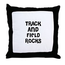 TRACK AND FIELD ROCKS Throw Pillow