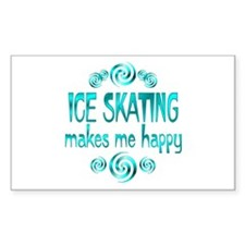 Ice Skating Rectangle Decal