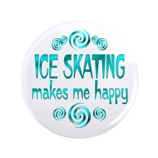 """Ice Skating 3.5"""" Button"""