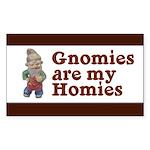 Gnomies are my Homies Rectangle Sticker 10 pk)