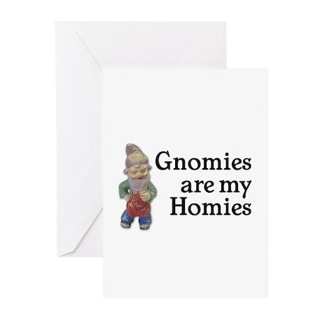 Gnomies are my Homies Greeting Cards (Pk of 10)