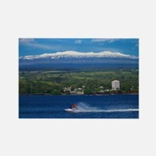 Snow Capped Mauna Kea Hawaii Rectangle Magnet