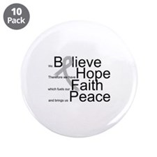 """Cute Cure all cancers 3.5"""" Button (10 pack)"""