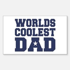 Worlds Coolest Dad Rectangle Decal