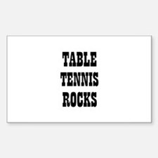 TABLE TENNIS ROCKS Rectangle Decal