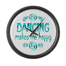 Dancing Large Wall Clock