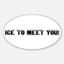Ice to meet you! Oval Decal