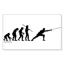Fencing Evolution Rectangle Sticker 10 pk)