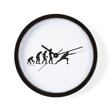 Fencing Evolution Wall Clock