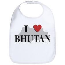 I Love Bhutan Bib