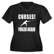 Foiled! Women's Plus Size V-Neck Dark T-Shirt