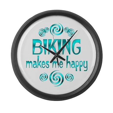 Biking Large Wall Clock
