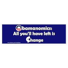 Obamanomics-Change Bumper Bumper Sticker