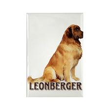 leonberger portrait Rectangle Magnet