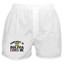 Somebody In Bolivia Boxer Shorts