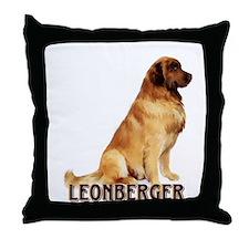 leonberger portrait Throw Pillow