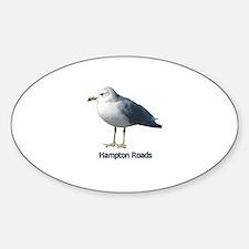 Hampton Roads Gull Oval Decal