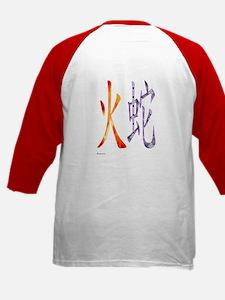 Chinese Fire Snake Kids Baseball Jersey