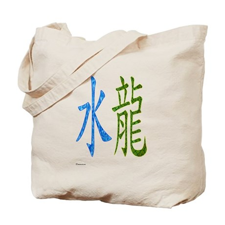 Chinese Water Dragon Tote Bag
