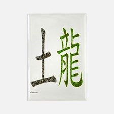 Chinese Earth Dragon Rectangle Magnet
