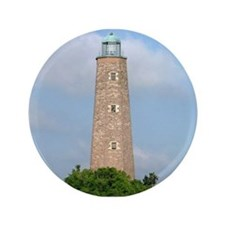 "Cape Henry Lighthouse 3.5"" Button"