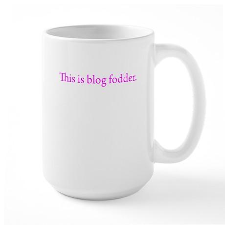 this is blog fodder pink Mugs