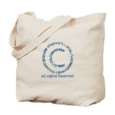 Copyright logo Tote Bag