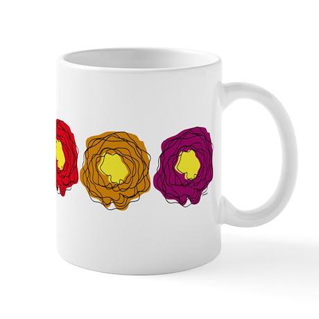 Line drawn flower illustration Mug