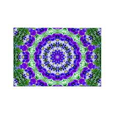 Purple Violas Rectangle Magnet