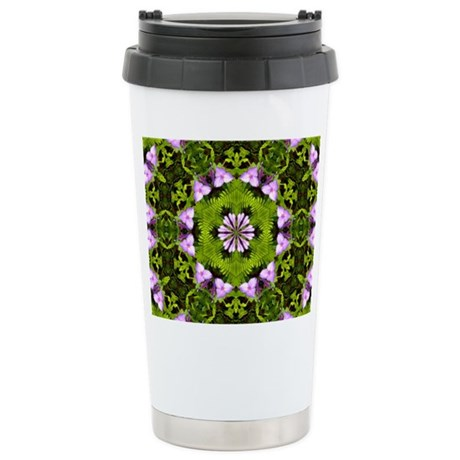 Spiderwort and Ferns Stainless Steel Travel Mug