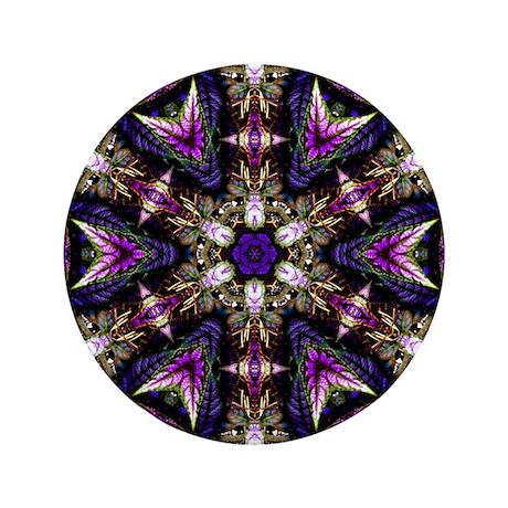 """Persian Shield 3.5"""" Button"""