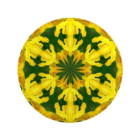 "Yellow Lily 3.5"" Button"