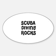 SCUBA DIVING ROCKS Oval Decal