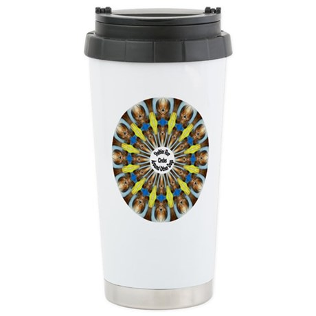 Sheltie Kaleidoscope Stainless Steel Travel Mug
