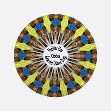 "Sheltie Kaleidoscope 3.5"" Button"