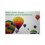 Hot Air Balloon Rectangle Magnet (100 pack)