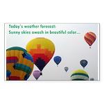 Hot Air Balloon Rectangle Sticker 10 pk)
