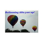 Hot Air Balloon Rectangle Magnet (10 pack)