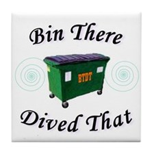 Bin There_Dived That! Tile Coaster